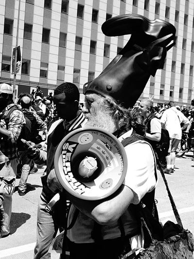 The Photojournalist - 2015 EyeEm Awards Protest Demonstration Anti Social Government Corruption Bullhorns Chicago