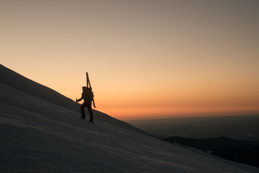Adventure Climbing Hiking Mountain Sunrise Mountaineering Mountains Mountains And Sky Nature Outdoors Scenics Silhouette Silhouette Ski Mountaineering Skiing Sky Snow Snow Sports Sunrise Sunset First Eyeem Photo