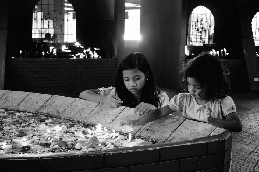 Streetphotography The Human Condition People Everybodystreet Eyeem Philippines Real People Religion Street Photography Light And Shadow Street Philippines Streetphoto_bw Blackandwhite B&w B&w Street Photography Light The Photojournalist - 2017 EyeEm Awards Girls The Street Photographer - 2017 EyeEm Awards People And Places EyeEm Lucena Black And White Friday