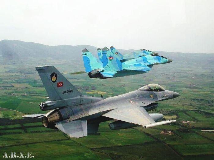 Azerbaijan and Turkey air force.