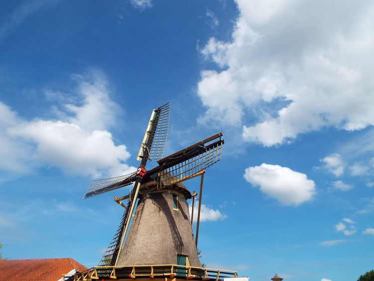 Taken while out cycling around Amsterdam, Aug, 2016 Cloud - Sky Day Low Angle View No People Outdoors Sky Sky And Clouds Windmill Windmill Of The Day Windmills #photography