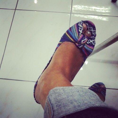 Love etnic..Etnic Shoes Tenunan Love fashion