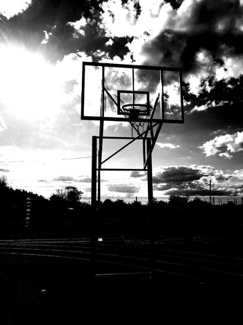 Basketball - Sport Basketball Hoop Cloud - Sky Sport Court Silhouette Sky Tree Outdoors Day No People