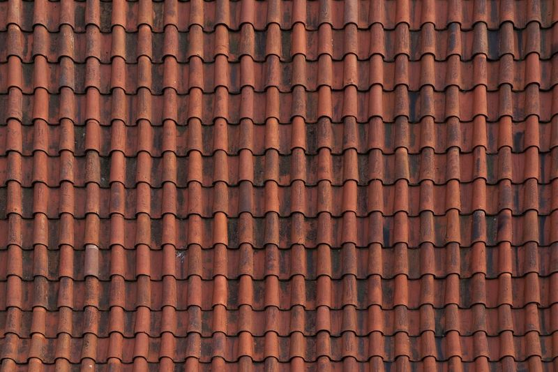 Architecture And Art Backgrounds Detail Full Frame Geometric Shape In A Row No People Orange Color Pattern Patterned Repetition Roof Textured  Tile