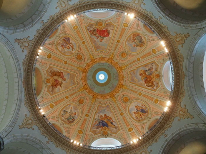 Architectural Design Architectural Feature Architecture Biblical  Built Structure Ceiling Christianity Close-up Cupola Day Directly Below Dome Frauenkirche Dresden Fresco Illuminated Indoors  Low Angle View No People Ornate Pattern Perfection Religious Architecture