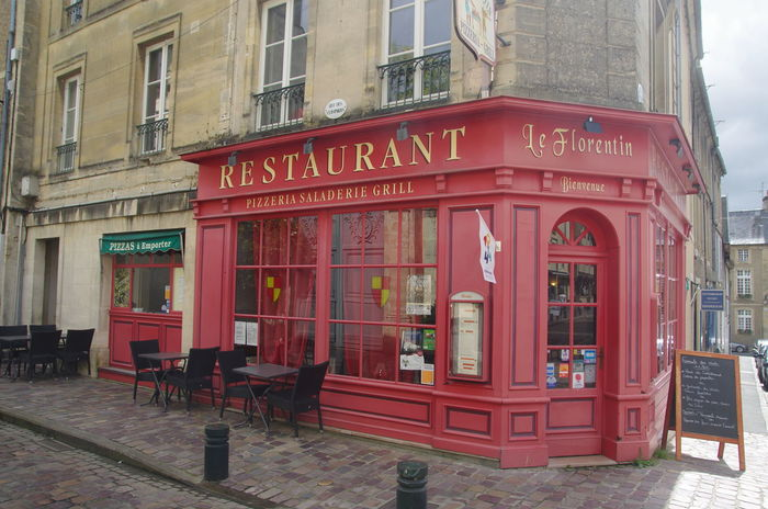 France Frankreich ♥ Normandie Architecture Building Exterior Built Structure Cafe City Communication Day No People Normandy Outdoors Pay Phone Red Restaurant Telephone Booth Text Western Script