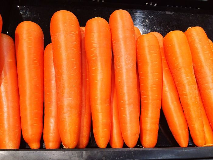 EyeEm Selects Carrot Orange Color Food And Drink Food Healthy Eating Vegetable No People Freshness Close-up Indoors  Day market Thailand Store Shelf Sale salad