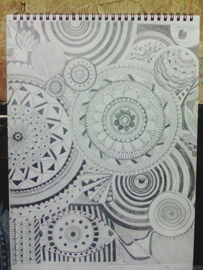 Drawing Art, Drawing, Creativity Mandala Zentangle Doodling Pencil Drawing Blackandwhite Draw Sketching