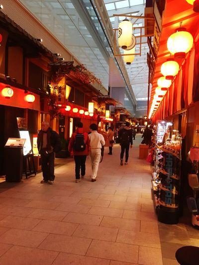 Japanese Airport Japanese  Retail  Illuminated Store Night Architecture Market City