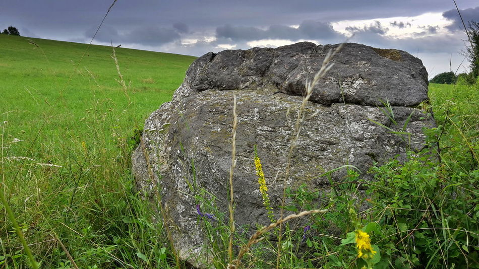 Beauty In Nature Cloud Field Grass Grassy Green Color Male Karpaty Nature Rock Rock Formation Rock Object Sky