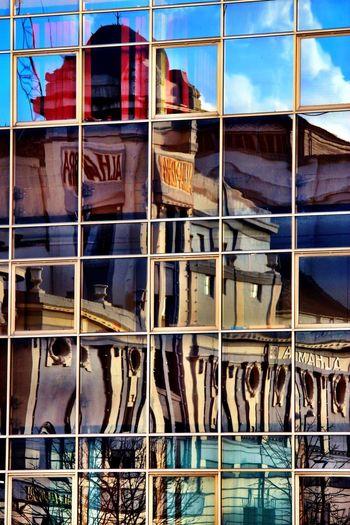 Reflection Colourful Bradford City Park