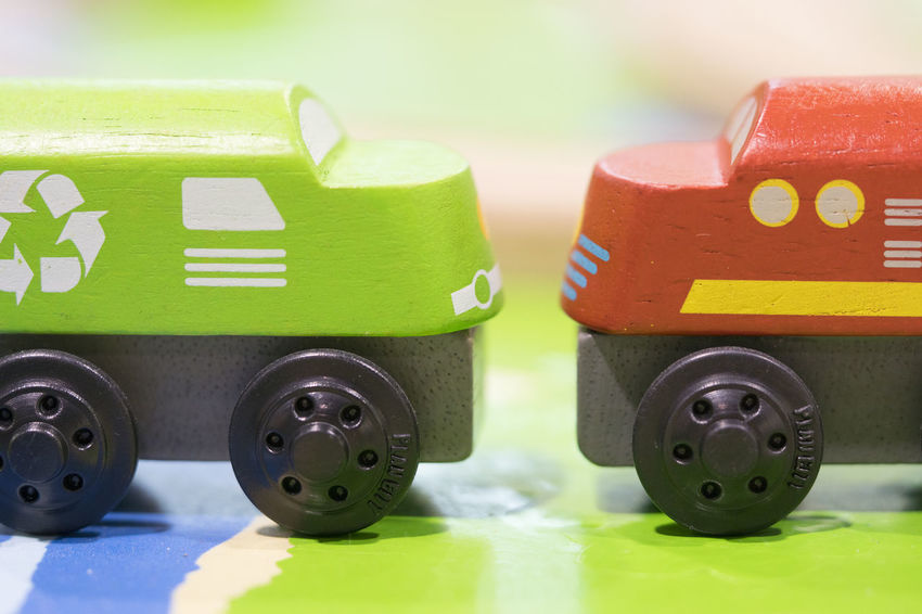 Green train and Red train Wooden toy - Toys for kids Play set Educational toys for preschool indoor playground Wooden Toy Green Color Toy Close-up No People Still Life Indoors  Transportation Group Of Objects Focus On Foreground Wheel Toy Car Business Car Motor Vehicle Tire Selective Focus Wooden Toy Block Wooden Toy Train Train - Vehicle