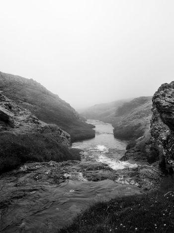 #blackandwhite #fog #landscape #river #water Geology Mountain Mountain Range Nature Power In Nature Rock Tranquil Scene Voyage