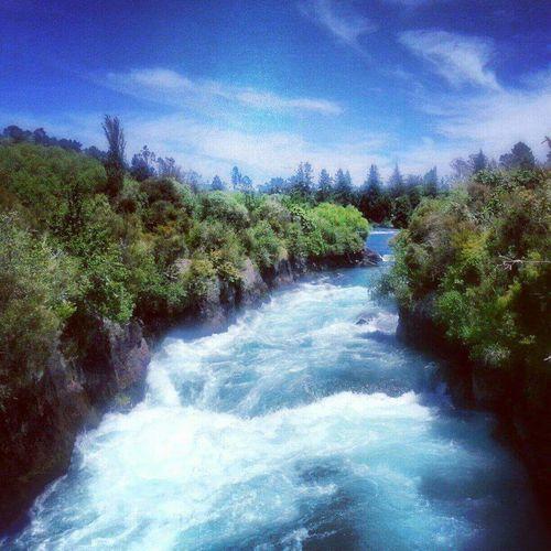 New Zealand Scenery Huka Falls, NZ