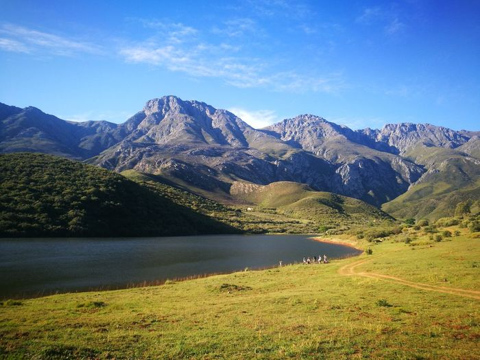 hidden hills Lake Mountain Peak Water Tree Sky Grass Wilderness Sight Valley Wilderness Area Mountain Ridge Southern Africa