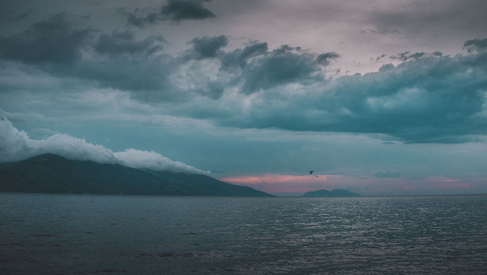 Dark Vlore Albania Clouds And Sky Fujifilm Landscape Light And Shadow Mood Mountains Sea Sunset