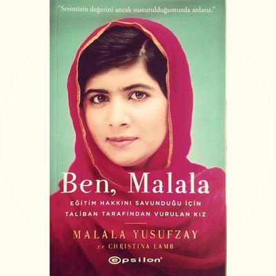 """""""Sesimizin değerini ancak susturulduğumuzda anlarız."""" Cesaret dolu hayat hikayesi ile beni etkileyen biri Malala / Malala who impressed me a lot with her story of a life full of courage Malalayusufzay Epsilon Reading book kitap"""