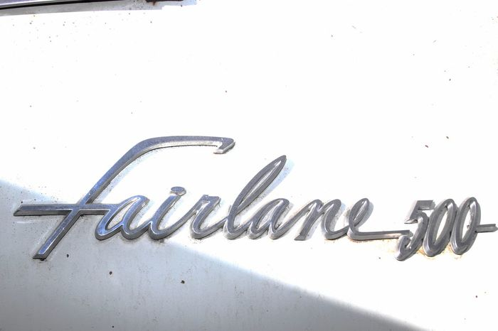 Close-up Copy Space Day Decal Fairlane Fifties Ford Ford Fairlane No People Old Car Retro Vintage Car White Background