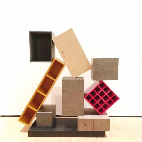 Geometries Contemporaryart EyeEmNewHere Furniture Design MemphisMilano MemphisStudio Ettoresottsass EyeEm Selects Wood - Material Stack Red EyeEmNewHere