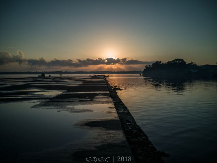 Let there be light. Lettherebelight LightOfTheWorld Genesis1:3 Water Sunset Salt - Mineral Lake Blue Reflection Beauty Beach Low Tide Sky Reflecting Pool Silhouette Outline Rays Calm Sun