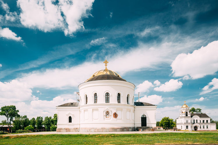 Brest, Belarus. Garrison Cathedral St. Nicholas Church In Memorial Complex Brest Hero Fortress In Sunny Summer Day. Architecture Sky Dome Building Religion Belief History Spirituality Brest Belarus Garrison Cathedral St. Nicholas Church Memorial Complex Fortress Sunny Summer Travel