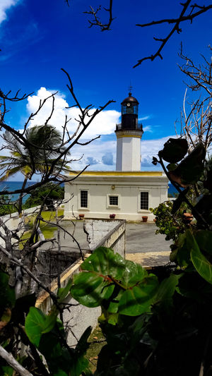 Puertorico Puertoricotourism Puertorico Faro Lighthouse #photography #beach Manuabo , Building Exterior No People Outdoors Travel Destinations Tree Day Architecture Sky Nature