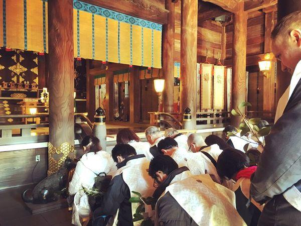 Omiya Mairi Baby One Month Celemony Japanese  Shrine Mishima-taisha Gaijin Daddy