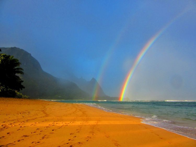 Last Christmas in hawaii Blue Sand Beach Accidents And Disasters Beauty In Nature Travel Destinations Outdoors Scenics Heat - Temperature Landscape Tranquility Nature Water Sky No People Day Kauai Kauai Rainbow Kauai♡ Traveling Home For The Holidays Finding New Frontiers Live For The Story Been There. Done That. Paint The Town Yellow Be. Ready.