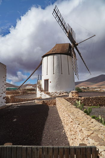 Fuerteventura Windmill Alternative Energy Architecture Building Exterior Built Structure Day Fuel And Power Generation Industrial Windmill Industry Low Angle View No People Outdoors Renewable Energy Rural Scene Sky Traditional Windmill Wind Power Wind Turbine Windmill