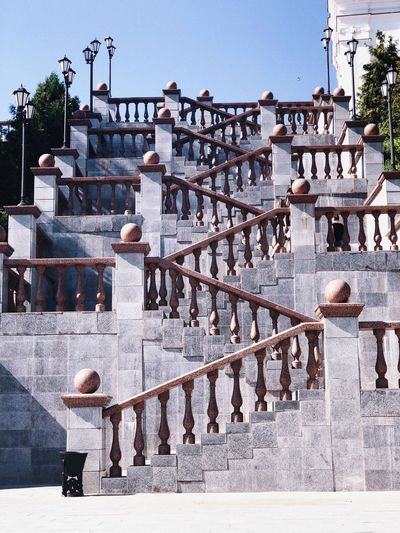 Lipetsk Russia Vitebsk Architecture Built Structure Building Exterior One Person Staircase Nature City Sunlight Lifestyles