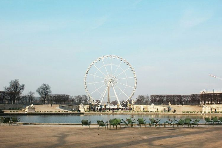 Paris France Jardin Des Tuileries Place De La Concorde Grand Roue Roue De Paris Beautiful View