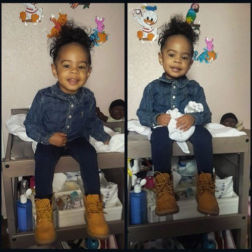 There goes my baby 😍😍😍😍😍 TotallyInLuvWithHer Babygurl Love Family swagg fashion timberland