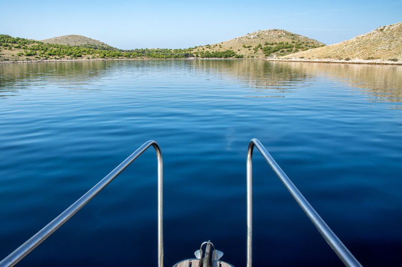 BEautiful Kornat, Tleascica, Adriatic sea, vacations Croatia Telašćica Vacations Adriatic Sea Architecture Beauty In Nature Boat Idyllic Kornati Mountain Nature Nautical Vessel No People Non-urban Scene Outdoors Railing Reflection Sailing Scenics - Nature Sky Summer Tranquil Scene Tranquility Water Yacht