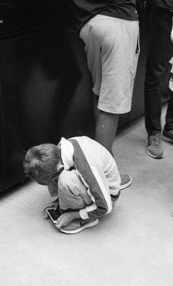 'Roll' -- B 35mm Film Canon AE-1 Fear Imagination Innocence Kodak Kodak Tri-X 400 Roll Tate TateModern Tri-X Youth Ball Blackandwhite Boy Curled In A Ball Curled Up Emotion Family Film Photography Filmisnotdead Fragility Streetphoto_bw Streetphotography Vulnerability