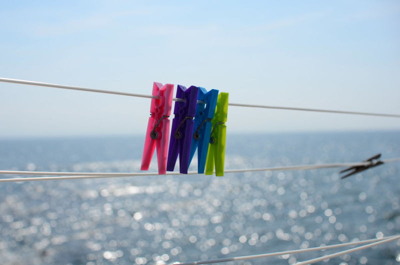 Anstruther Anstruther Harbour Clothes Line Clothesline Colorful Drying Drying Clothes Fife  Firth Of Forth Focus On Foreground Group Of Objects Hanging In A Row Laundry Laundry Laundry Day Multi Colored Ocean Peg Pegs Pegs, Laundry, Line Rope Variation Washing Clothes Washing Line