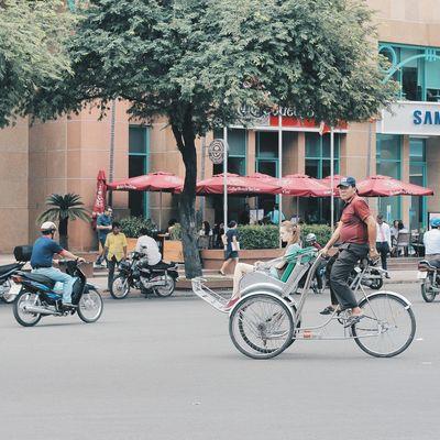 Cyclo Cyclo Saigon Street Streetphotography Outdoors Land Vehicle People Tourist VSCO City City Life City Street Urban