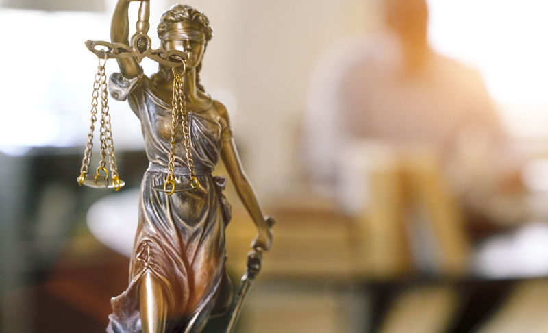 Justice - Concept Lawyer Close-up Day Focus On Foreground Gold Colored Hanging Indoors  Justice Law No People