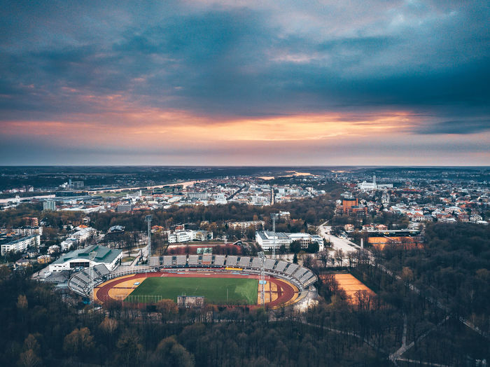 Stadium DJI X Eyeem Drone  Stadium Aerial Aerial View Architecture Beauty In Nature Building Building Exterior Built Structure City Cityscape Cloud - Sky Drone Photography High Angle View Horizon Horizon Over Water Mavic Mavic Pro Nature No People Outdoors Residential District Sea Sky Sport Sunset TOWNSCAPE Water