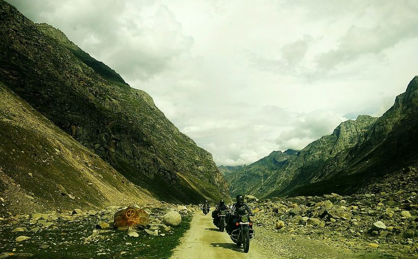 Bikers are the only companions on a road trip. Innovation Nature Cloud - Sky Teamwork Bikers BikerGirl Biker Life Roads Roadtrip Nature Photography Travel Photography Loveforphotography Backgroundlight Beautifulview Mountains And Sky