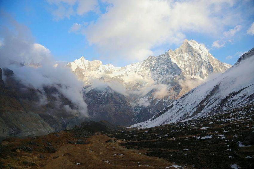 Conquer the world. Feel The Journey Nepal Annapurna Trekking Travel Nature Annapurnabasecamp ASIA Hello World