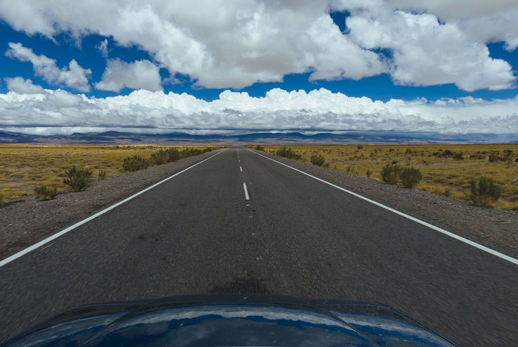 Car Cloud - Sky Country Road Journey Landscape Road Road Marking Scenics The Way Forward Tranquil Scene Transportation Travel Vanishing Point