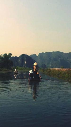 Vietnam Halong Halongbay Landscape Boats Boat