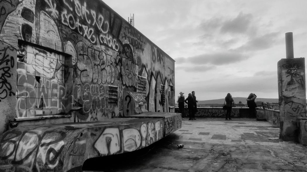 Graffiti City Grafitti Wall Traveling The Photojournalist - 2017 EyeEm Awards Abandoned Places Abandoned Buildings People Graffiti Outdoors Sky Architecture Day Adult Only Men