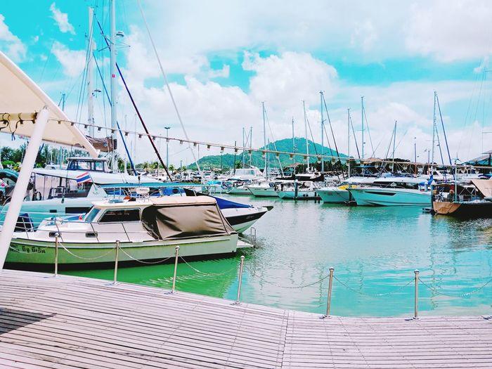 Boat Lagoon Phuket Thailand Boat Lagoon Thailand🇹🇭 Phuket,Thailand Water Nautical Vessel Harbor Sea Moored Beach Bird Yacht Sky Cloud - Sky