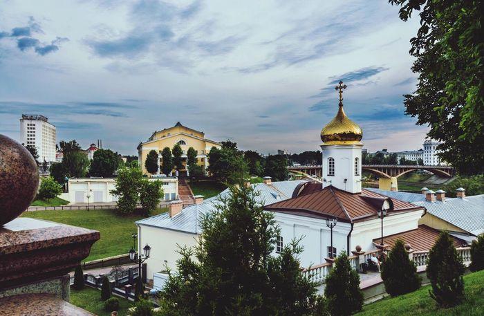 Architecture Built Structure Sky Building Exterior Religion Cloud - Sky Tree Outdoors Tourism Travel Vitebsk,Belarus
