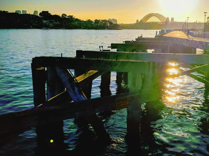 Sydney Harbour Bridge Sunrise Water Nautical Vessel Tree Sunset Lake Reflection Sky Pier Jetty Wooden Post Marina Mooring Post Dock Shore Harbor Harbor Moored Scenics Horizon Over Water Calm Tranquil Scene