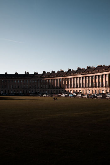 Light streaming over the Royal Crescent, Bath Afternoon Bath Light United Kingdom Architectural Column Architecture Building Built Structure City Clear Sky Day Grass History Nature Outdoors Sky The Past Tourism Travel The Architect - 2018 EyeEm Awards