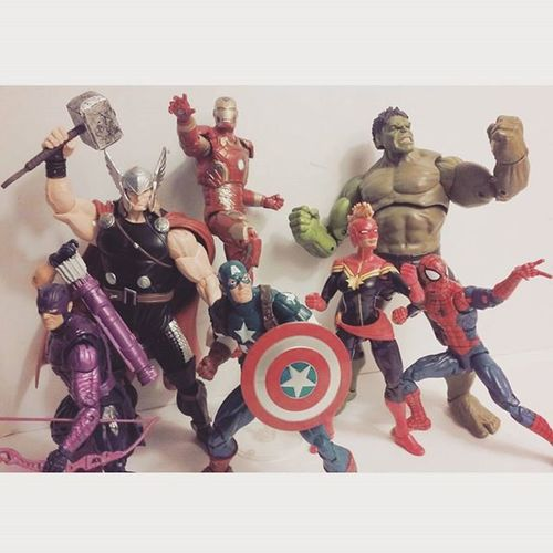 Avengers Assemble!! Marvellegends Baf Marvelfigures Infiniteseries Marvelfigures Hawkeye Theincridiblehulk Spiderman Amazingspiderman Thor  Articulatedcomicbook Clintbarton Tonystark Collection Figurecollection Figures Collector Theavengers Actionfigures Nerd Comics Captainamerica Ironman