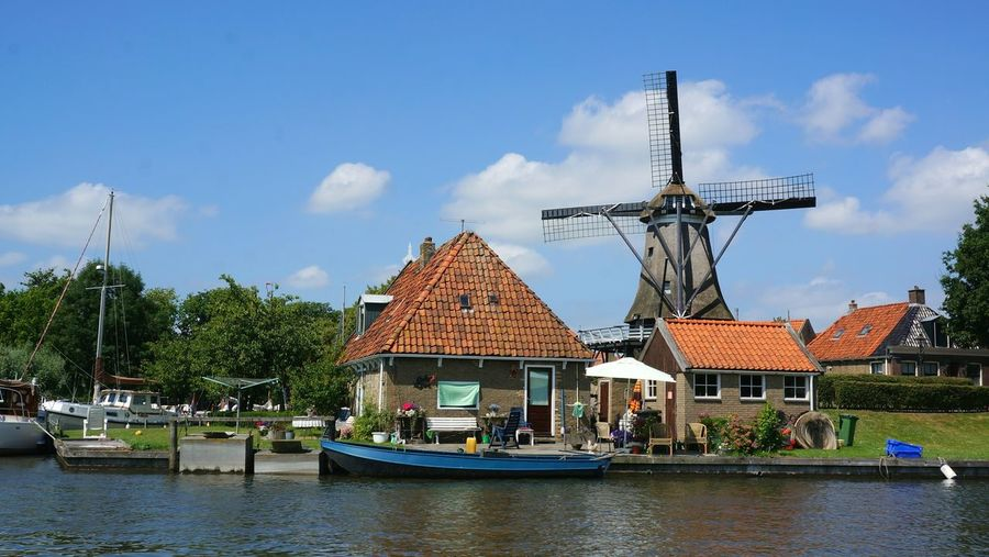 Summer in Friesland, the Netherlands. Friesland Netherlands Windmill Summer Summertime Boat Trip Boating Hanging Out Sunny Day Water_collection
