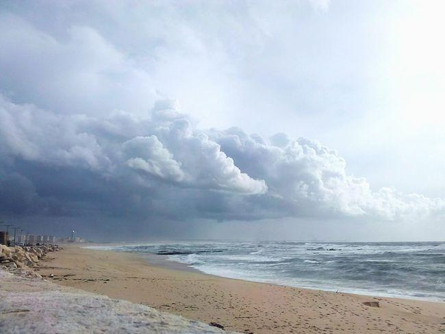 Beach Cloud - Sky Sea Travel No People Landscape Storm Cloud Urbanphotography Thunderstorm Figueira Da Foz, Portugal